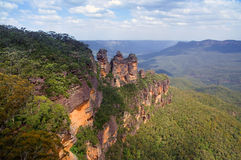 Blue Mountains, The Three Sisters. The Three Sisters is one of the famous symbols of the Blue Mountains National Park close to Sydney, New South Wales, Australia Royalty Free Stock Photography