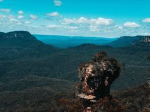 Blue Mountains. The Blue Mountains three sisters near Sydney royalty free stock images