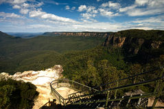 Blue Mountains. Viewing Platform Royalty Free Stock Photography