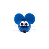 Blue mouse, clay modeling Royalty Free Stock Photography