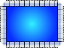 Blue movie frame Royalty Free Stock Photography