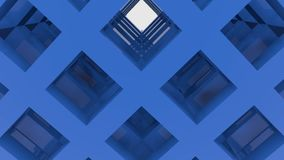 Blue moving abstract construction stock video
