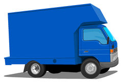 Blue Moving Van Royalty Free Stock Photo