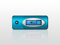 Blue mp3 player Royalty Free Stock Photo