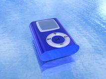Blue mp3 Player Stock Image
