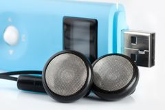 Blue MP3 player Stock Photography