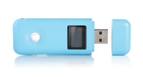 Blue MP3 player isolated Stock Photo