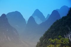 Blue Mt - Karst mountains China Stock Photos