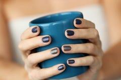 Blue mug Royalty Free Stock Images