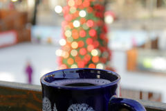 The blue mug. With mulled wine Stock Image