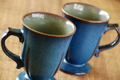 Blue mugs Royalty Free Stock Photography