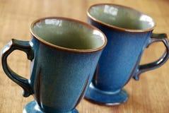 Blue mugs Royalty Free Stock Photography