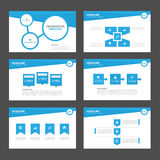 Blue Multipurpose Infographic elements and icon presentation template flat design set advertising marketing brochure flye Royalty Free Stock Image