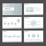 6 blue Multipurpose Infographic elements and icon presentation template flat design set for advertising marketing brochure flyer Stock Photography