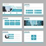 Blue multipurpose presentation templates Infographic elements fl. At design set for brochure flyer leaflet marketing advertising Stock Images