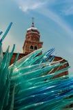 Blue Murano Glass Sculpture in Murano, Venice - Italy Royalty Free Stock Photos
