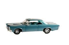 Blue musclecar Stock Photography