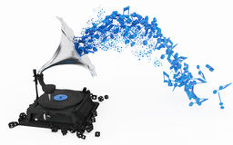 Blue Music Stock Photography