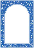 Blue music arch frame with white center Stock Photography