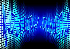 Blue Music Background Royalty Free Stock Image