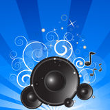 Blue music background Stock Image