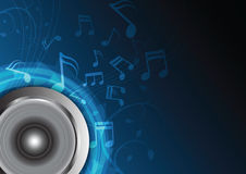 Blue music background Stock Images