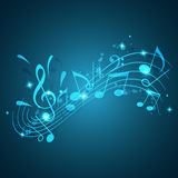 Blue music background Royalty Free Stock Images