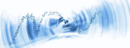 Blue music background with bright gradient and blur effects royalty free stock photo