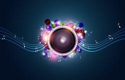 Blue Music Background Royalty Free Stock Image