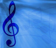 Blue Music Banner Stock Photos