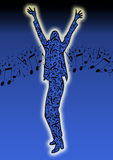 Blue music dance Royalty Free Stock Photo