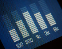 Blue music equalizer Stock Photography