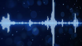 Blue music equalizer background Stock Photos
