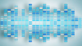 Blue music equalizer with shadows Stock Photo