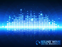 Blue Music Equalizer. Stock Photos