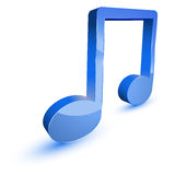 Blue music note symbol Royalty Free Stock Photos