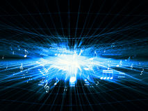 Blue Music Shockwave Stock Image