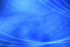 Music abstract background. Blue modern simply musical abstract background, with vista style Stock Images