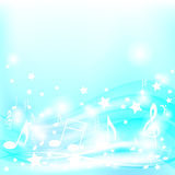 Blue Musical Background Royalty Free Stock Image