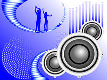 Blue Musical Background Royalty Free Stock Photo