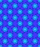 Blue muslim abstract  flowers seamless pattern. Blue muslim abstract  flowers seamless pattern for design Stock Photography