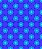 Blue muslim abstract  flowers seamless pattern. Blue muslim abstract  flowers seamless pattern for design stock illustration