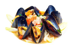 Blue mussels dish Royalty Free Stock Photo