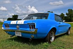 1966 Blue Mustang Stock Image