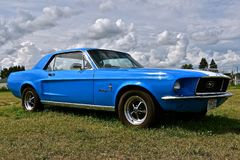 1966 Blue Mustang Stock Images