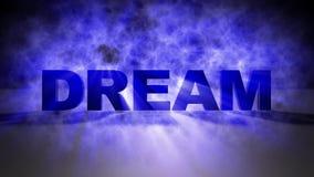 Blue mystic light a Dream text vector illustration