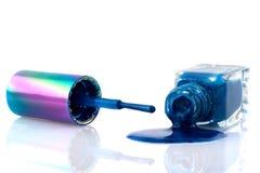 Blue nail polish Royalty Free Stock Photos