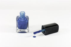 Blue nail polish Stock Image