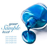 Blue nail polish Royalty Free Stock Photography