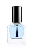 Blue nail polish bottle Royalty Free Stock Photography